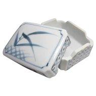 Japanese Contemporary Arita Mikawachi Hirado 三川内 平戸市 Ware  Porcelain Fukusa or Napkin box for Tea Ceremony