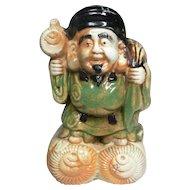 Japanese Antique Hirado Ware Japanese Porcelain Okimono or Statue of Daikoku