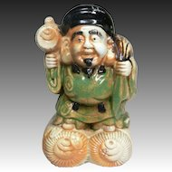Japanese Antique Hirado Ware Japanese Porcelain Okimono or Statue of Daikoku