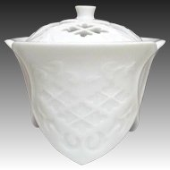 Japanese Contemporary Arita yaki 有田焼 White Porcelain Koro or Incense Burner