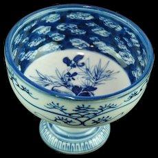 Japanese Antique 19th c Imari Chadōgu Pedestal Bowl for Tea Ceremony - Red Tag Sale Item