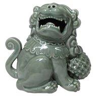 Japanese Antique Nabeshima Seiji Porcelain 鍋島 Okimono of a Shishi Lion