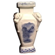 Japanese Antique Hirado Blue and White Porcelain Vase