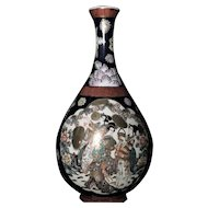Fine Large Japanese Porcelain Daishoji Imari Kutani Vase by Juhachi 九谷重八.
