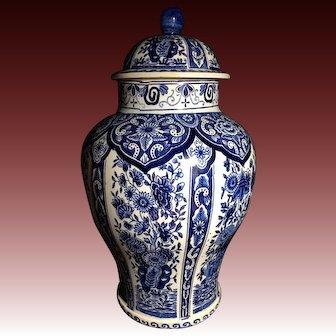 Lovely Delft Porcelain Ginger Jar or Urn by Holland Maastricht royal Spinx