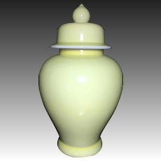 Japanese or Chinese Vintage Porcelain Large Temple Jar