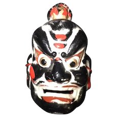 Japanese Vintage Kanshitsu Lacquer Shitennō 四天王 Mask of Zoucho-ten