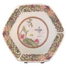 Beautiful Vintage Octagonal Porcelain Cabinet Dish Yokohama Style
