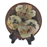 Japanese  Antique Kutani Porcelain Decorative Dish