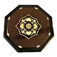 Asian Urushi Shikki 漆器 or Lacquerware  Server Tray with Mother of Pearl Inlaid Lid