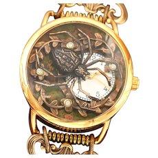 Steampunk Watch, Wrist Watch For Women, Watch Bracelet, Spider, Unique, Halloween