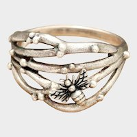 Sterling Silver Ring, Bee Ring, Twig Ring, Bumble Bee, Honey Bee, Abstract