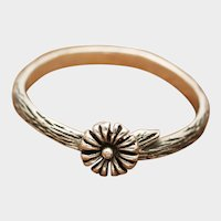 Sterling Silver Flower Ring, Twig Ring, Branch Ring, Dainty