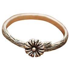 Sterling Silver Flower Ring, Twig Ring, Branch Ring, Dainty