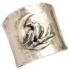 Raven Ring, Animal Jewelry, Pagan Rings, Crow Ring, Halloween Jewelry