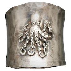 Sterling Silver Ring, Octopus Ring, Kraken Jewelry, Rings For Men, Bohemian Style Ring, Boho For Women, Unisex