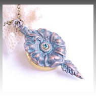 Turquoise Poison Flower Secret Compartment Necklace