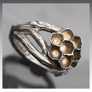 Branch Ring Wasp Nest Ring Bee Ring Fine Silver