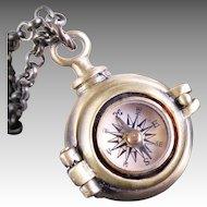 Poison Locket Golden Compass Locket Compass Necklace Secret Compartment