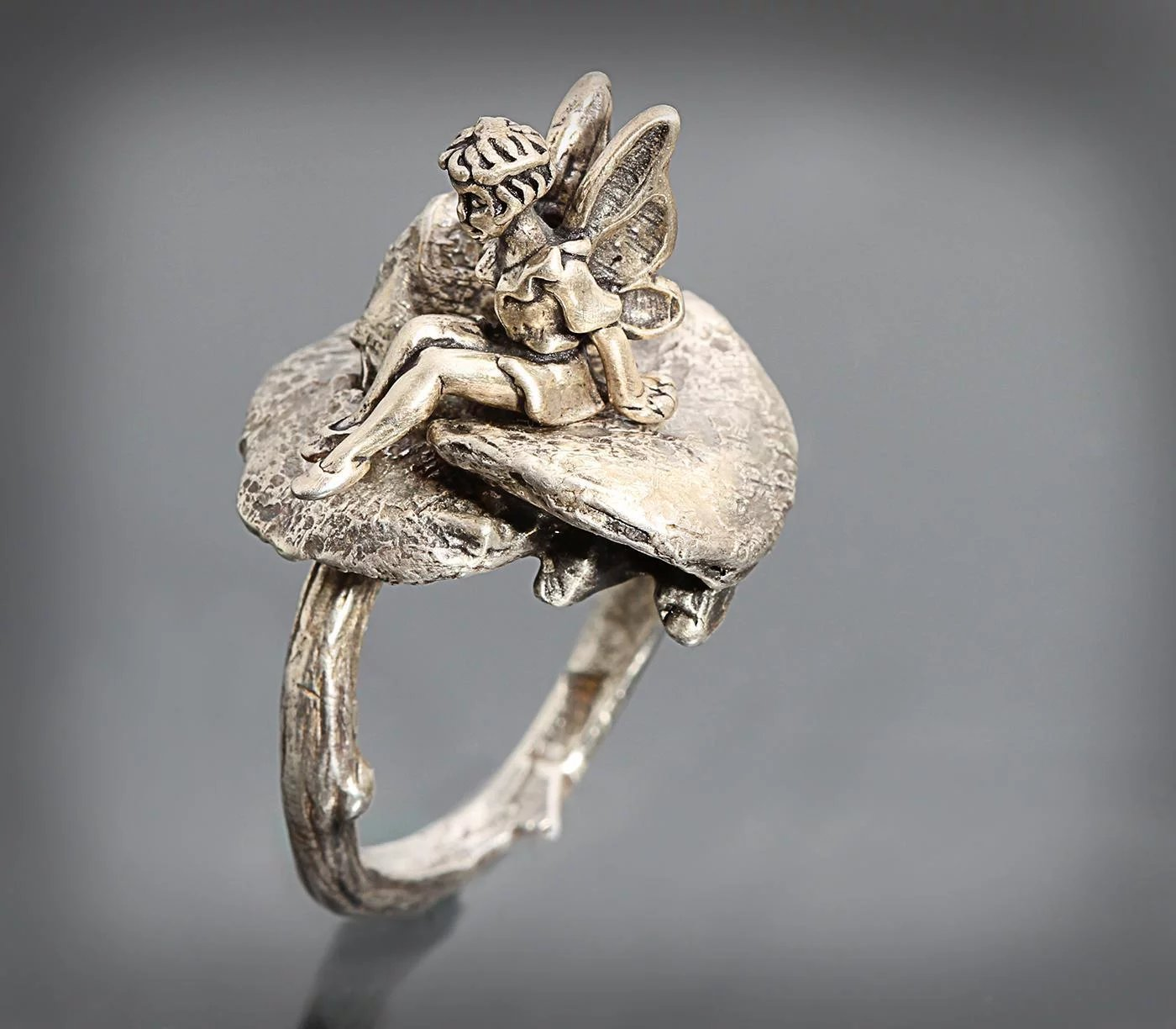 com amazon band engagement oak ring leaf fairy rings tale medieval dp wedding silver twig pagan lace