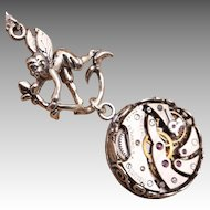 Sterling Silver Necklace Fairy Necklace Steampunk Necklace Time Traveler