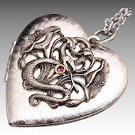 Silver Heart Necklace Silver Heart Picture Locket Snake Necklace Silver Heart Locket