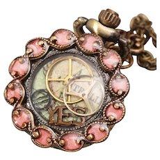 Womens Pocket Watch Steampunk Necklace Locket Watch Necklace