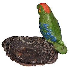RARE Vintage Parrot Pin Tray Parrot Vanity Tray Parrot Tray
