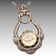 Compass Pendant Necklace Silver Compass Pendant