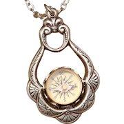Compass Pendant Necklace Silver Compass Pendant