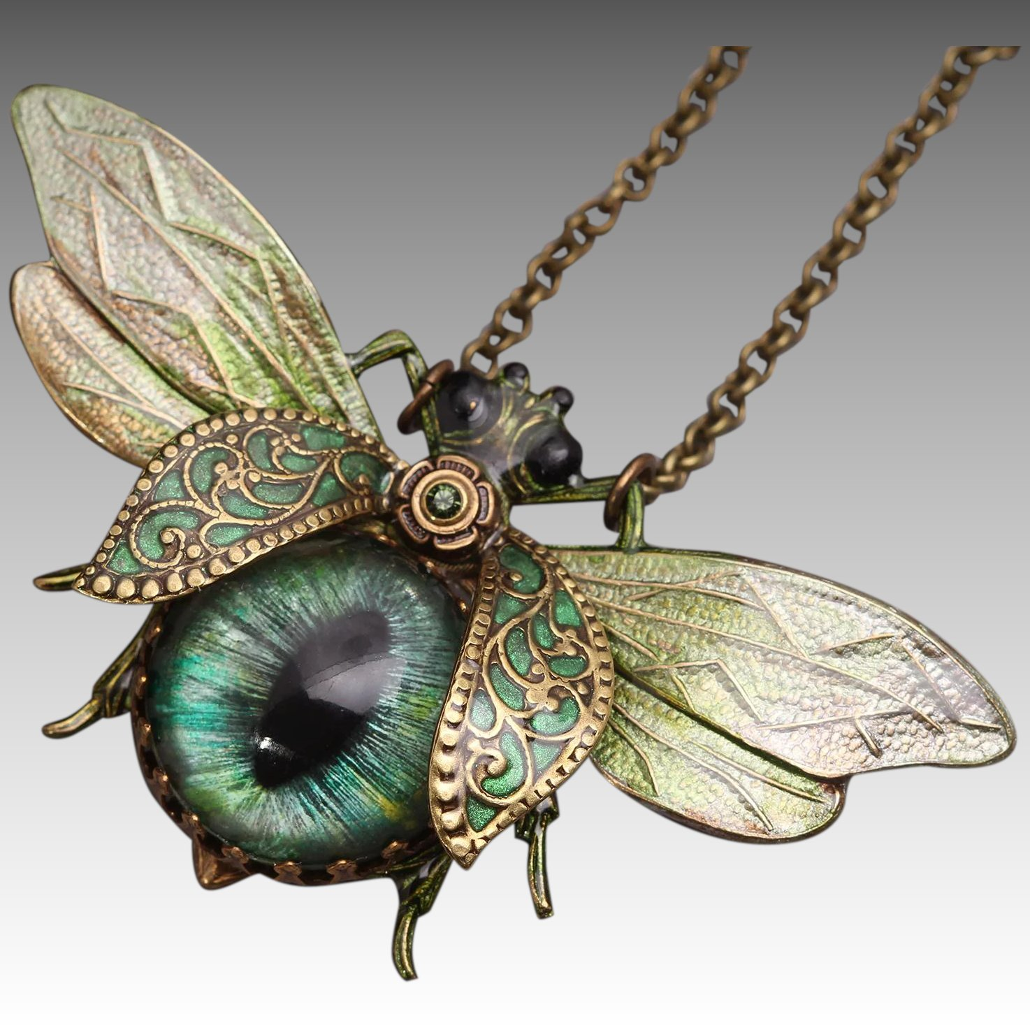 Bee necklace bug necklace insect jewelry save the bees click to expand aloadofball Choice Image