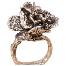 Fairy Jewelry Fairy Ring Tree Branch Ring Fine Silver Ring Fairy Garden