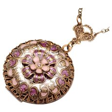 Compass Locket Necklace Flower Locket Necklace Photo Locket Necklace Flower Locket Compass Locket
