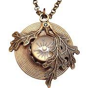 Compass Pendant Necklace Compass Necklace Working Compass Leaf Necklace