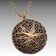 Bird Locket, Bird Locket Necklace, Compass Locket Necklace, Compass Necklace, Locket Necklace