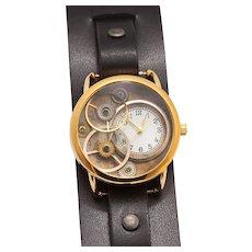 Steampunk Watch, Leather Wrist Watch, Unisex, Wrist Watch For Women, Wrist Watch For Men, Wrist Watch, Leather Cuff