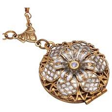 Photo Locket Necklace Compass Necklace Flower Necklace Flower Locket