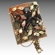 Octopus Bracelet Large Cuff Bracelet Statement Jewelry Art Nouveau Style Cuff Beach Jewelry