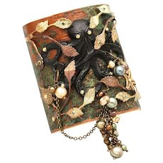 Octopus Bracelet Large Cuff Bracelet Statement Jewelry Art Nouveau Style Cuff Beach Jewelry