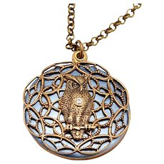 Owl Necklace, Lords Prayer Locket, Religious, Religious Necklace, Owl Locket