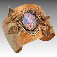 Large Cuff Bracelet, Statement Jewelry, Spider, Spider Cuff, Spider Web, Spider Bracelet, Art Nouveau Style
