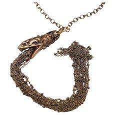 Snake Necklace Tassel Necklace Long Tassel Necklace Snake Jewelry Gothic
