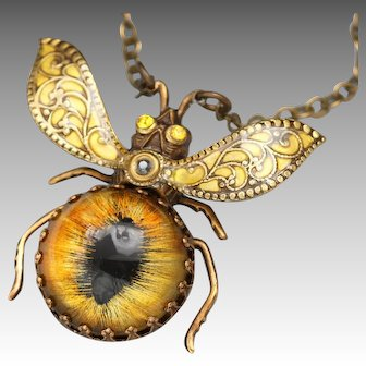 Bee Necklace, Insect Jewelry, Bug Necklace, Honey Bee, Queen Bee, Bee Jewelry