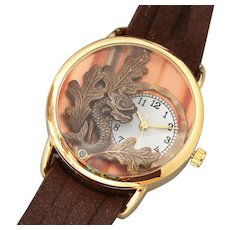 Unique Watch, Wrist Watch, Ladies Wrist Watch, Leather Wrap Watch, Working Watch