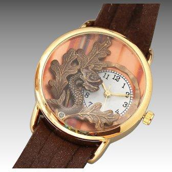 Unique Watch, Wrist Watch, Ladies Wrist Watch, Leather Wrap Watch, Working Watch