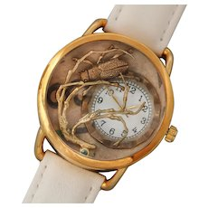 Ladies Watch, Ladies Wrist Watch, Unique Watch, Bug Jewelry, Insect, Working Watch