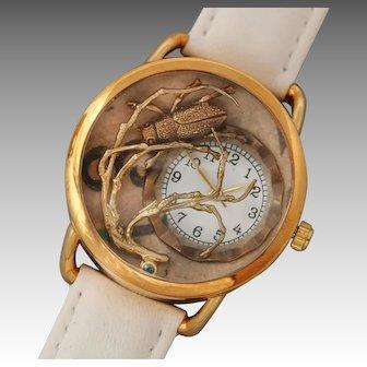 Ladies Watch, Ladies Wrist Watch, Unique Watch, Bug Jewelry, Insect, Working Watch