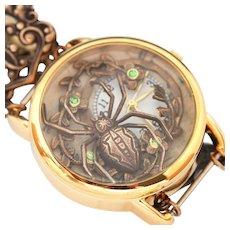 Steampunk Watch Women Wrist Watch Spider jewelry Unique Wrist Watch Womens Ladies Watch Working Watch