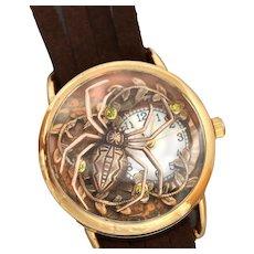 Ladies Wrist Watch, Unique Watches, Spider, Womens Watches, Leather Watch