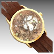 Ladies Wrist Watch, Leather Wrist Watch, Tree Of Life, Unique Watch, Wrist Watch, Women